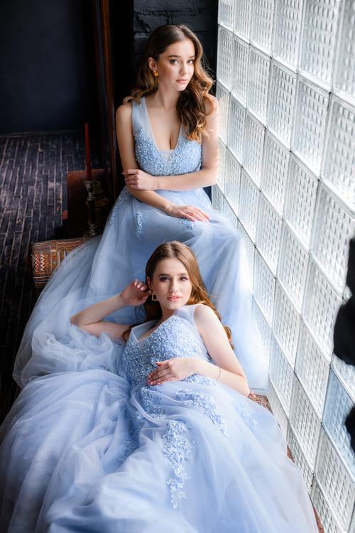 голубі плаття для дружок