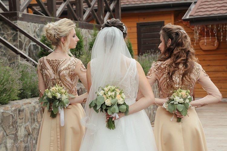 золоті плаття для дружок, сукні для дружок,