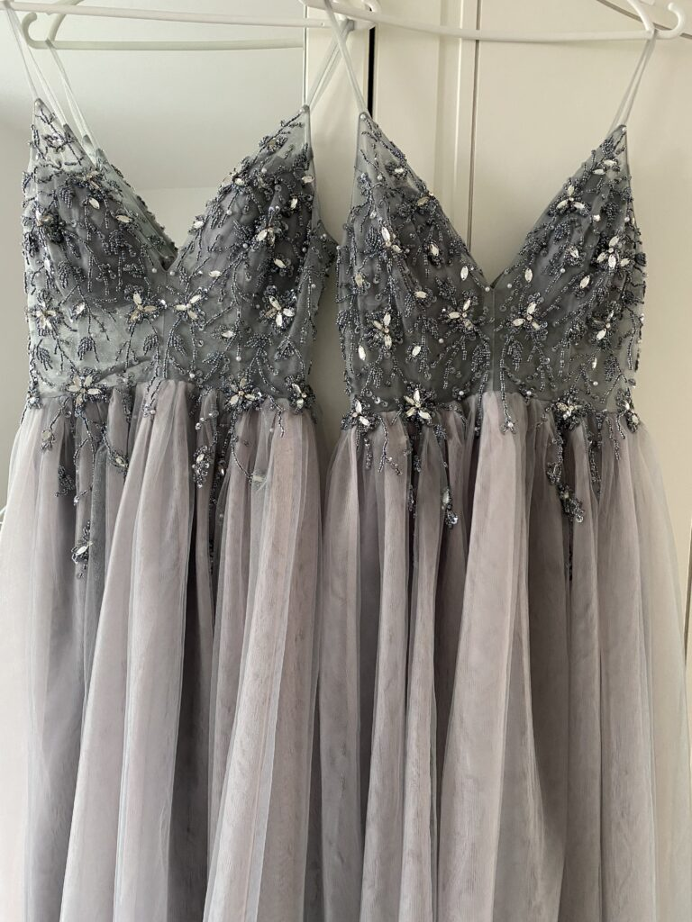 плаття для дружок на весілля, сірі плаття для дружок, фатінові плаття для дружок,